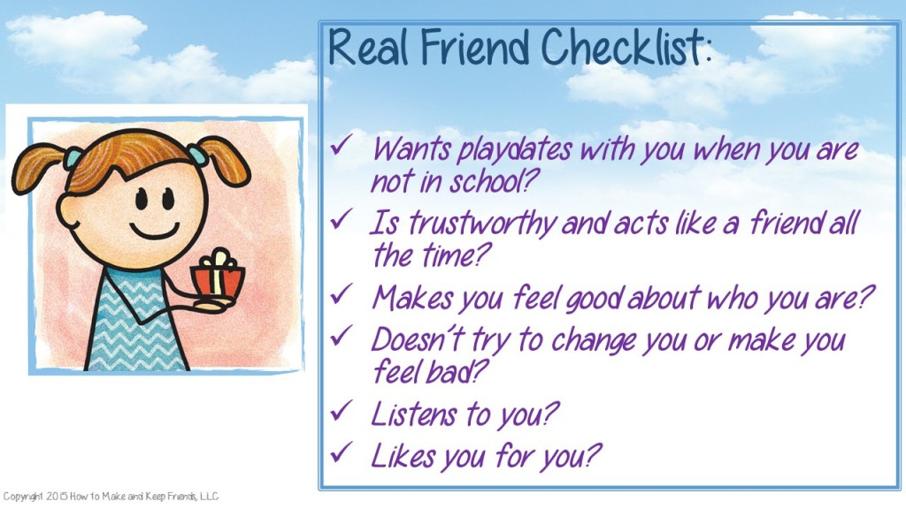 Real Friend Checklist